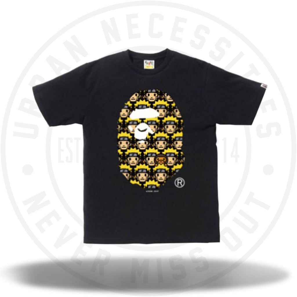 Naruto x Bape Ape Head Tee Black-Urban Necessities