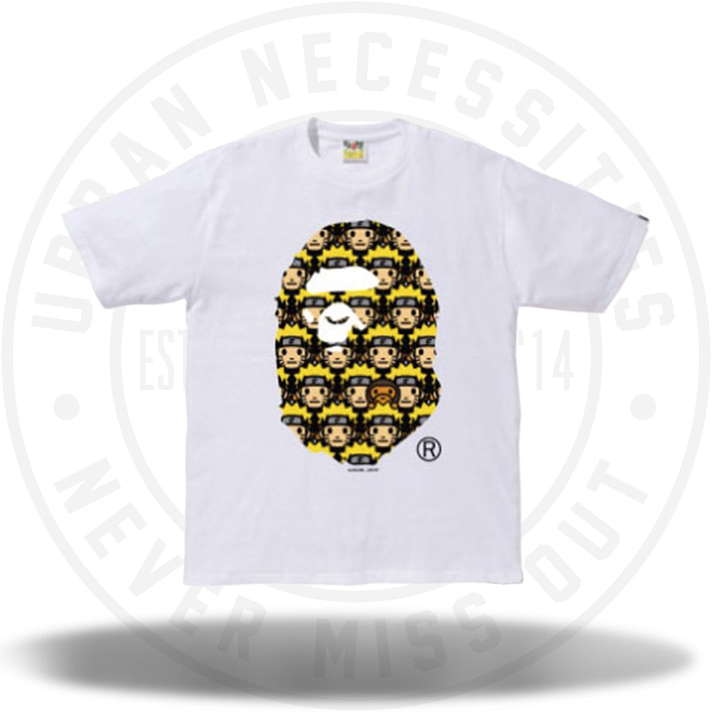 Naruto x Bape Ape Head Tee White-Urban Necessities
