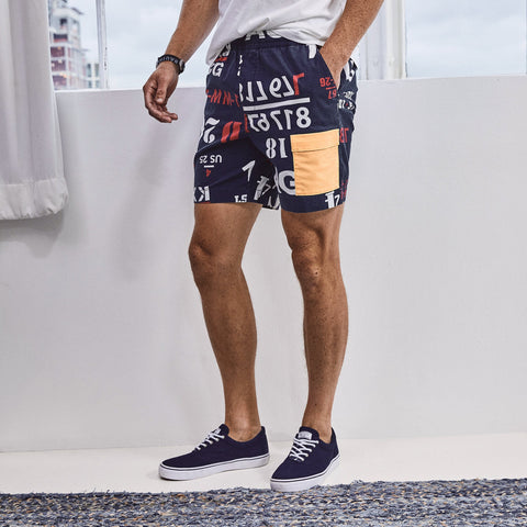 NAUTICA X URBAN NECESSITIES PRINTED SHORT - B03600-Urban Necessities