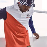 NAUTICA X URBAN NECESSITIES SAILING CLUB LONG SLEEVE POLO - K03600-Urban Necessities