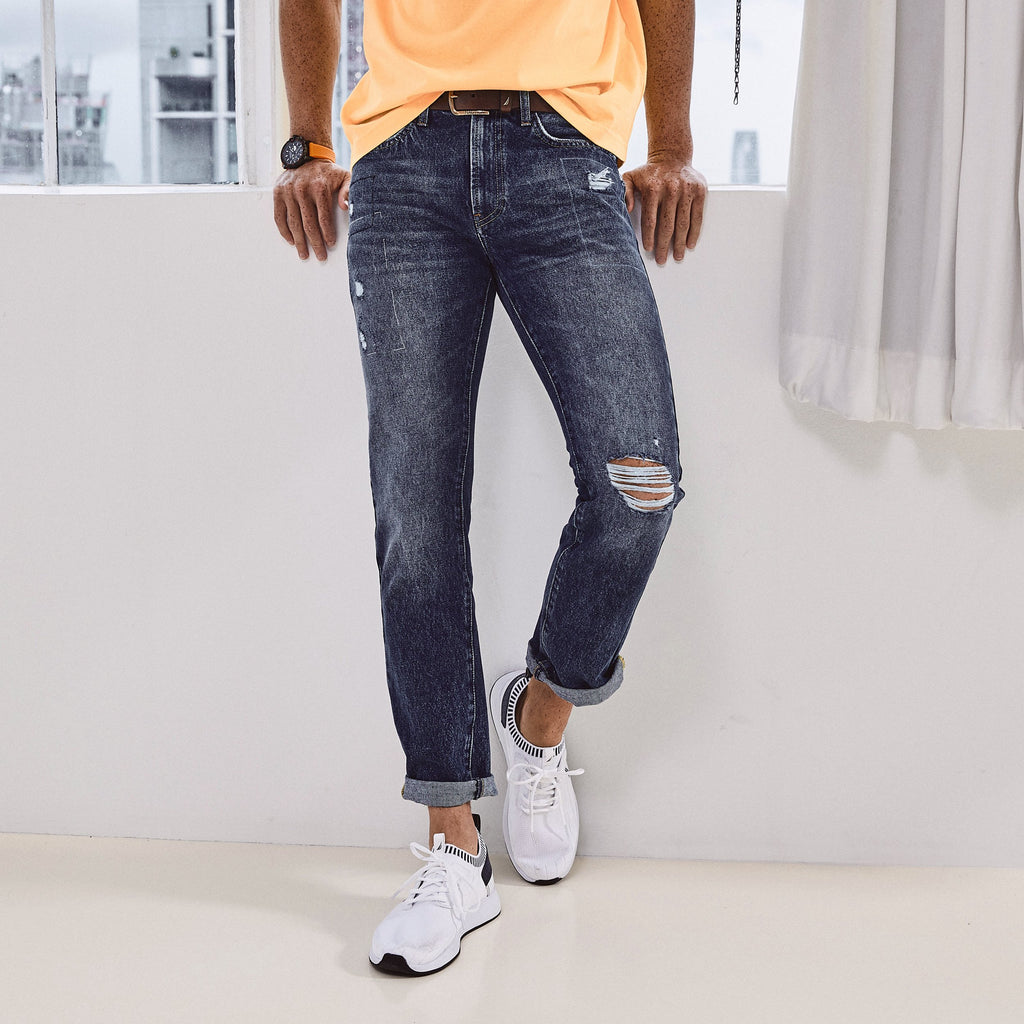 NAUTICA X URBAN NECESSITIES STRAIGHT FIT DENIM - 0P3600-Urban Necessities