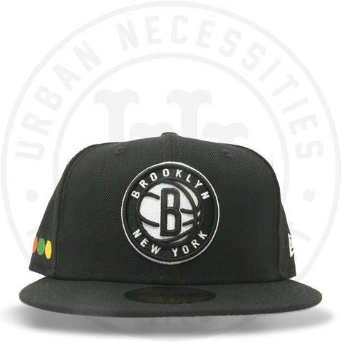 "New Era 59FIFTY - Brooklyn Nets ""Dots"" Black-Urban Necessities"
