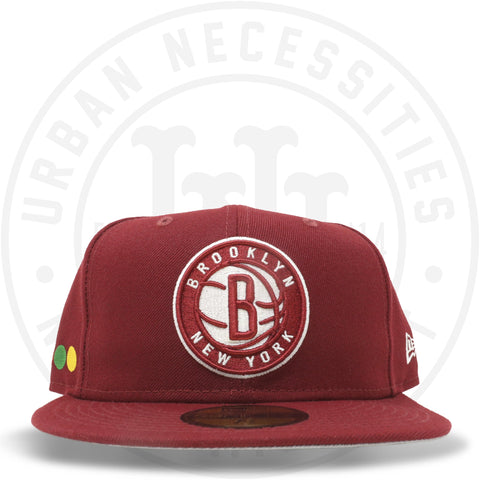 "New Era 59FIFTY - Brooklyn Nets ""Dots"" Cardinal Red-Urban Necessities"
