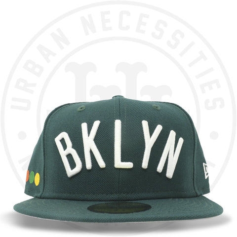 "New Era 59FIFTY - Brooklyn Nets ""Dots"" Dark Green-Urban Necessities"