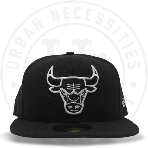 New Era 59FIFTY - Chicago Bulls Black/White-Urban Necessities