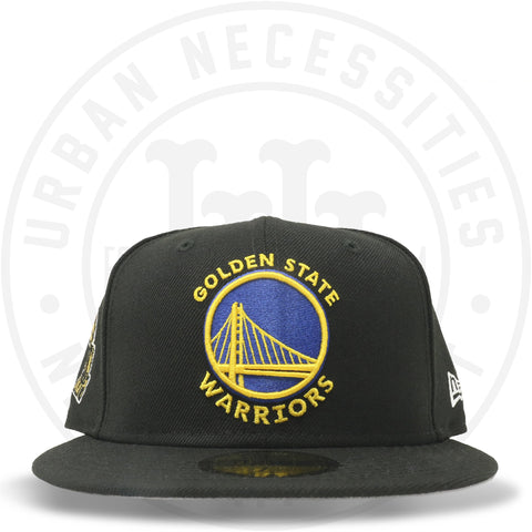 "New Era 59FIFTY - Golden State Warriors ""Championship"" Black-Urban Necessities"