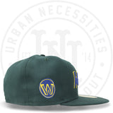 "New Era 59FIFTY - Golden State Warriors ""Script"" Dark Green-Urban Necessities"