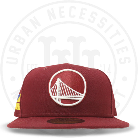 "New Era 59FIFTY - Golden State Warriors ""Strength In Numbers"" Cardinal Red-Urban Necessities"