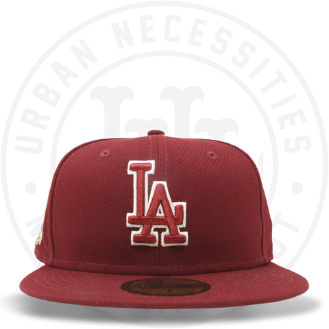"New Era 59FIFTY - Los Angeles Dodgers ""40th Anniversary"" Cardinal Red-Urban Necessities"