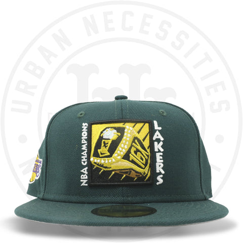"New Era 59FIFTY - Los Angeles Lakers ""16X Ring"" Dark Green-Urban Necessities"