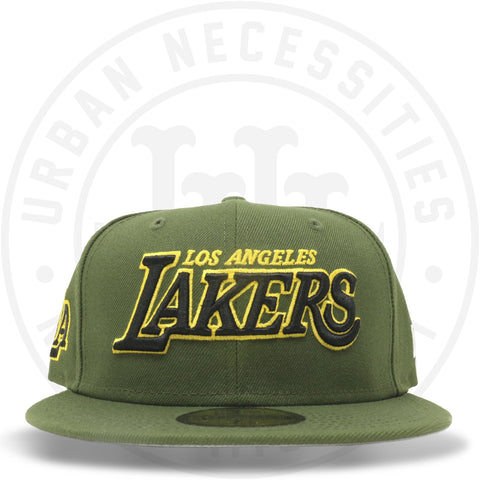 "New Era 59FIFTY - Los Angeles Lakers ""LA"" Olive-Urban Necessities"