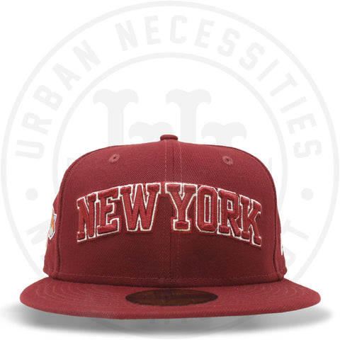 "New Era 59FIFTY - New York Knicks ""New York"" Cardinal Red-Urban Necessities"