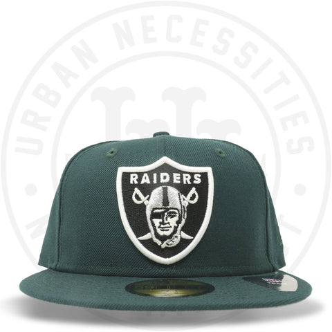 New Era 59FIFTY - Oakland Raiders Dark Green-Urban Necessities