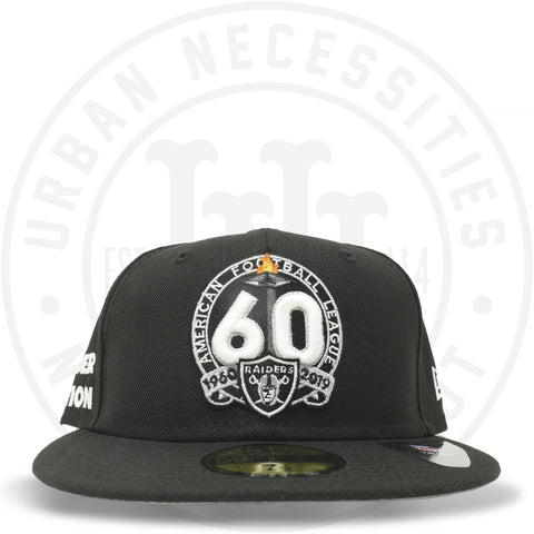 "New Era 59FIFTY - Oakland Raiders ""Raider Nation 60th"" Black-Urban Necessities"