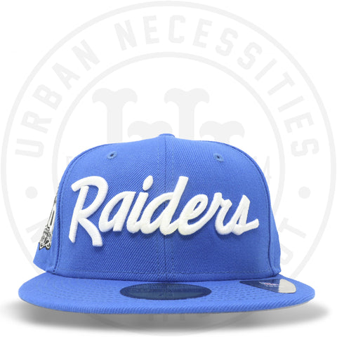 "New Era 59FIFTY - Oakland Raiders ""Script 60th"" Blue Azure-Urban Necessities"