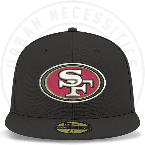 New Era 59FIFTY - San Francisco 49ers Black/Lavender Under Brim-Urban Necessities