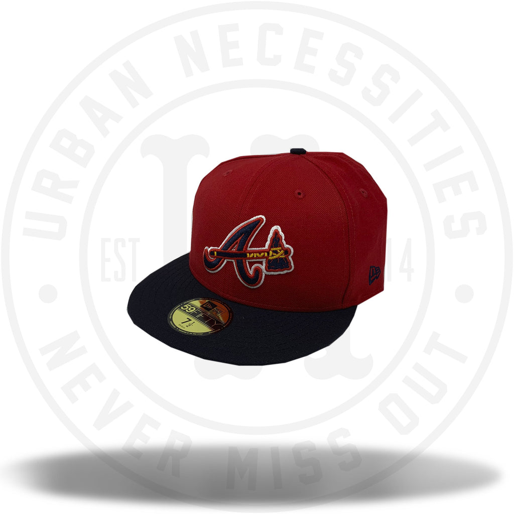 New Era MLB Atlanta Braves Red/Black Fitted 59Fifty-Urban Necessities
