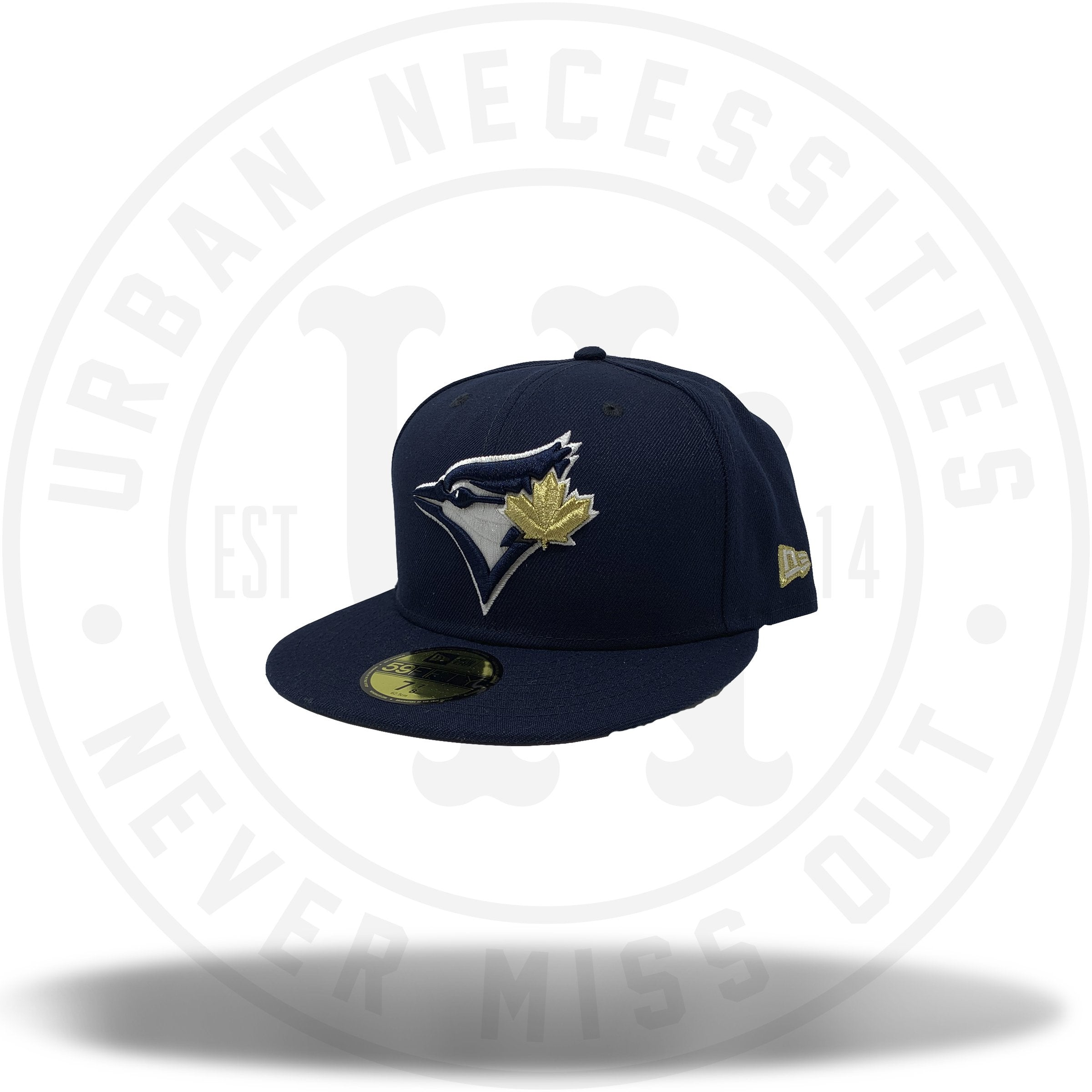 brand new 2725f 3c481 New Era MLB Toronto Blue Jays Navy Gold Fitted 59Fifty