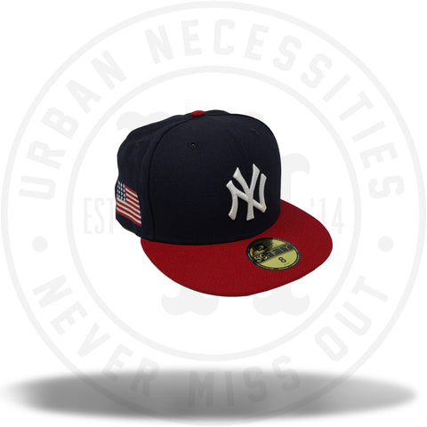 New Era MLB Yankees Navy/Red American Flag 59Fifty-Urban Necessities