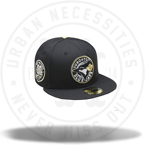 New Era Toronto Blue Jays 30th Anniversary Patch Fitted Cap Black/Gold-Urban Necessities