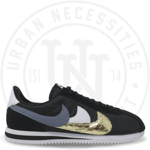 "Nike Cortez Kuhvit Custom ""Black Waves""-Urban Necessities"