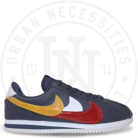 "Nike Cortez Kuhvit Custom ""Navy Waves""-Urban Necessities"