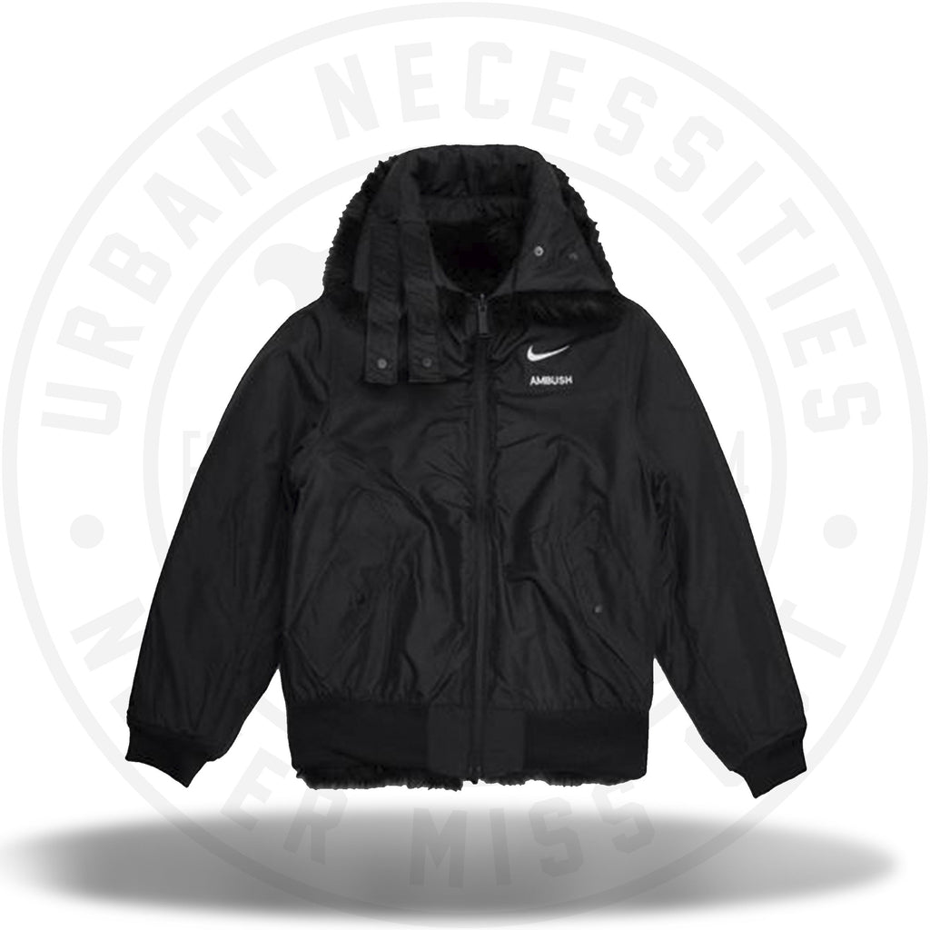 0d39646d99c3 ... Nike x Ambush Women's Reversible Faux Fur Coat Black/Sail-Urban  Necessities