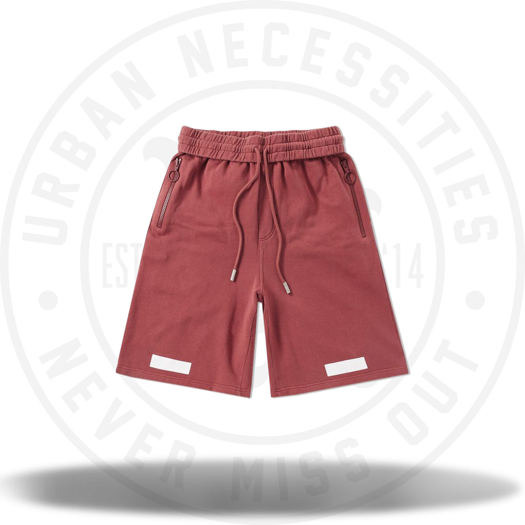 Off-White Diagonal Arrows Shorts Burgundy-Urban Necessities
