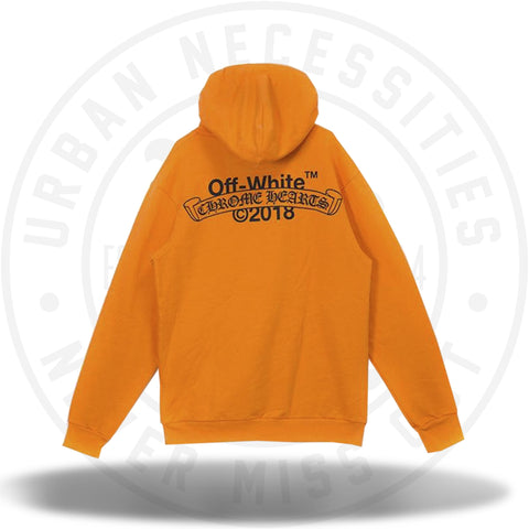 Off White x Chrome Hearts 2018 Orange Hoodie-Urban Necessities