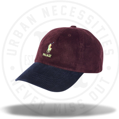 Palace Ralph Lauren Corduroy Classic Polo Cap Rich Ruby/Aviator Navy-Urban Necessities