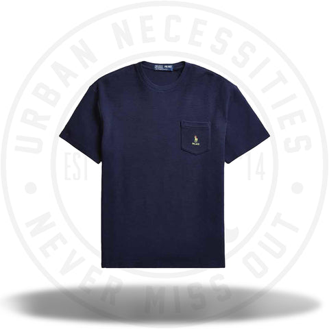 Palace Ralph Lauren Waffle Pocket Tee French Navy-Urban Necessities