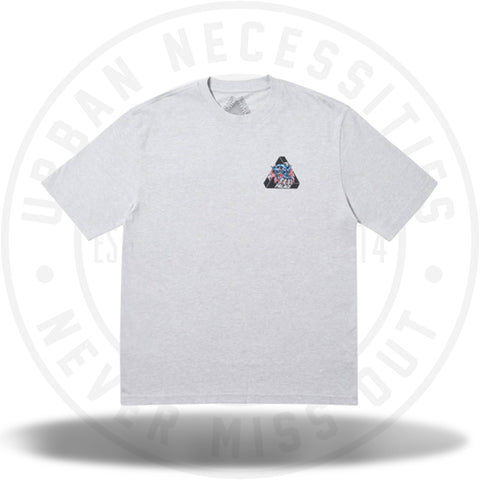 Palace Ripped T-Shirt Grey Marl-Urban Necessities