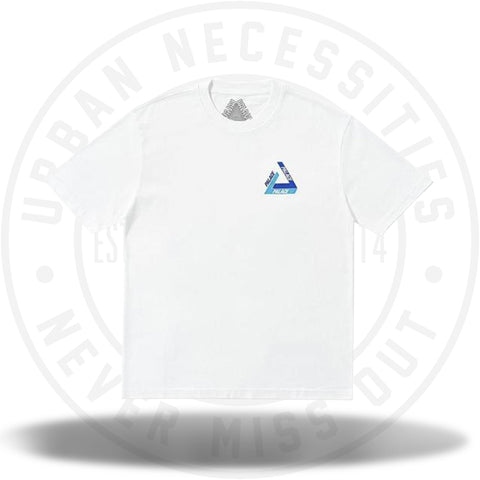 Palace Tri-Shadow T-Shirt White/Blue-Urban Necessities