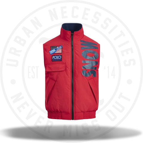 Polo Ralph Lauren Snow Beach Vest Prep School Red-Urban Necessities