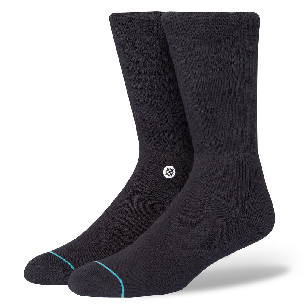 Stance Classic Crew Socks Icon Black/White-Urban Necessities