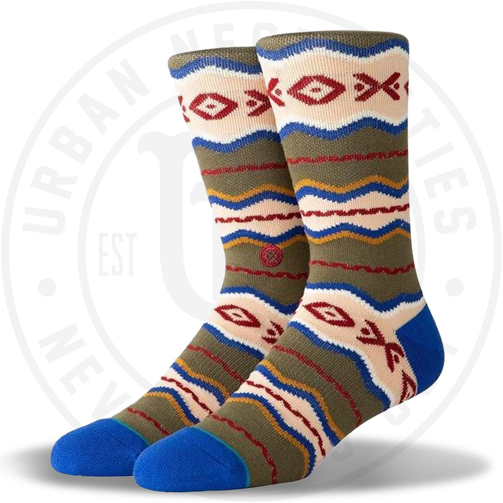 Stance Classic Crew Socks Mitchell Green-Urban Necessities
