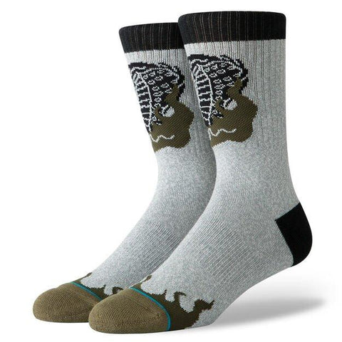 Stance Classic Crew Socks Snake Venom Heather Grey-Urban Necessities