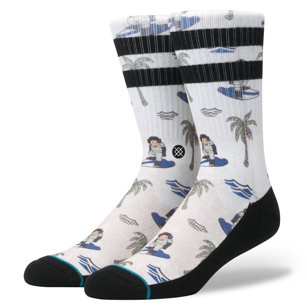 Stance Classic Crew Socks Surfin' Monkey Tan-Urban Necessities