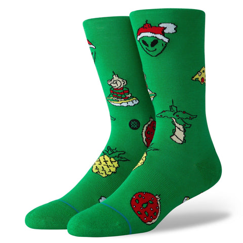 Stance Classic Crew Socks Xmas Ornaments Green-Urban Necessities
