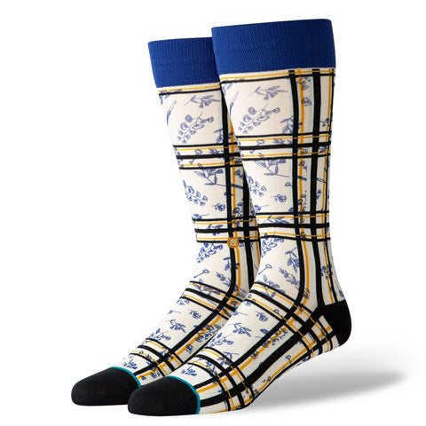 Stance Dress Socks Flower Shank Off White-Urban Necessities