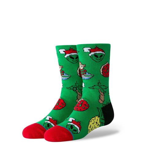 Stance Kids Socks Xmas Ornaments Kids Green-Urban Necessities