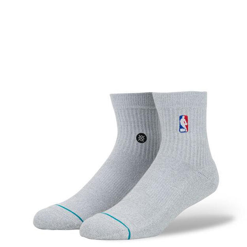 Stance NBA Casual Socks NBA Logoman QTR Heather Grey-Urban Necessities