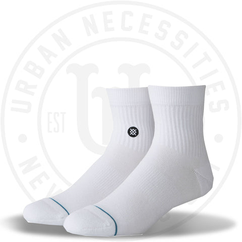 Stance Quarter Socks Icon QTR White/Black-Urban Necessities