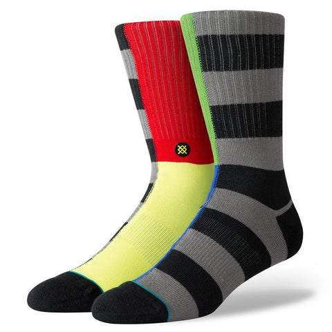 Stance Split Checker Black Crew Socks-Urban Necessities