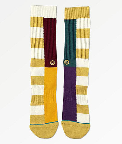 Stance Split Checker Natural Crew Socks-Urban Necessities