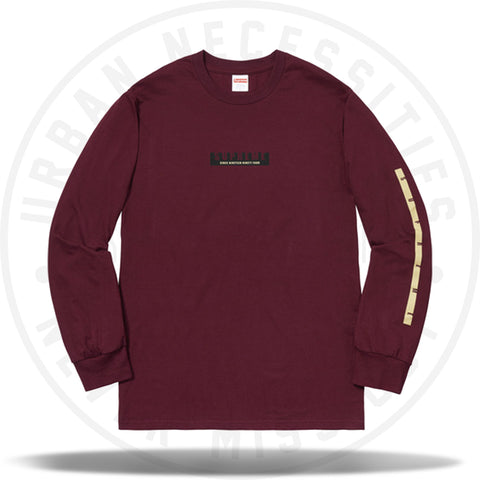 Supreme 1994 LS Tee Burgundy-Urban Necessities