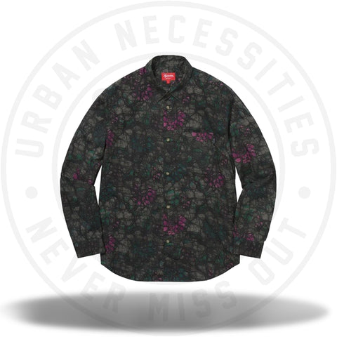 Supreme Acid Floral Shirt Black-Urban Necessities