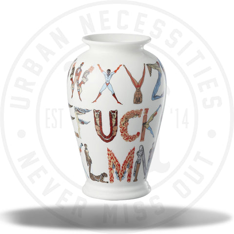 Supreme Alphabet Vase White-Urban Necessities