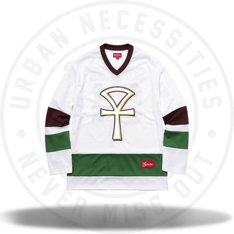 Supreme Ankh Hockey Jersey White-Urban Necessities