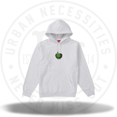 3579a04ac3cd Supreme Apple Hooded Sweatshirt Ash Grey-Urban Necessities